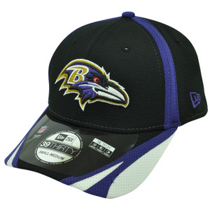 NFL New Era 39Thirty Baltimore Ravens 2014 Team Color Training Flex L/XL Hat Cap