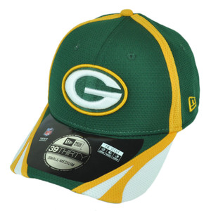 NFL New Era 39Thirty Green Bay Packers Team Color Training Flex Fit L/XL Hat Cap