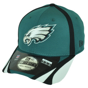 NFL New Era 3930 Philadelphia Eagles 2014 Team Color Training Flex S/M Hat Cap
