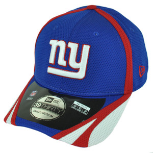 NFL New Era 3930 New York Giants 2014 Team Color Training Flex Fit S/M Hat Cap