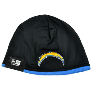 NFL New Era San Diego Chargers Tech Knit Game Cuffless Beanie Hat Skully Toque
