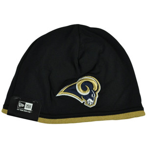 NFL New Era St Louis Rams Tech Knit Game Cuffless Beanie Hat Skully Toque