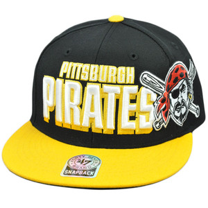 47 Forty Seven Brand Snap Back Wool Slamma Jamma Hat Cap MLB Pittsburgh Pirates