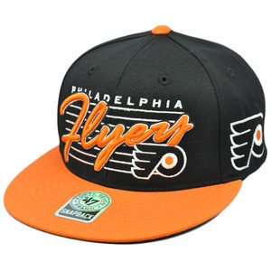 47 Forty Seven Brand Snap Back Fission Wool Hat Cap NHL LNH Philadelphia Flyers