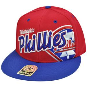 MLB '47 Brand Philadelphia Phillies Underglow MVP Wool Snapback FlatBrim Hat Cap