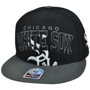 MLB '47 Brand Chicago White Sox Vin Wool Blockhouse Snapback Flat Brim Hat Cap