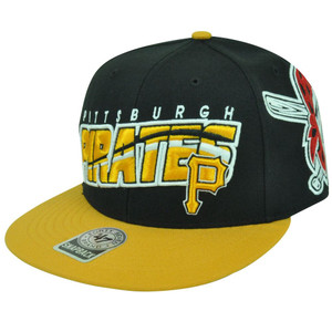 MLB '47 Brand Pittsburgh Pirates Prospect Snapback Flat Bill Baseball Hat Cap
