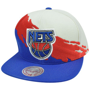NBA Mitchell & Ness NG77Z Paintbrush Wool Snapback Hat Cap New York Nets
