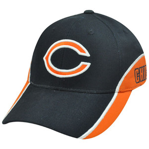 NFL Chicago Bears Team Apparel Dark Navy Blue Orange Cotton Velcro Constructed