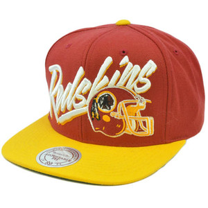NFL Mitchell Ness Retro Vice Script Snapback Hat Cap NE99 Washington Redskins