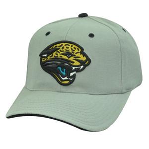 NFL JACKSONVILLE JAGUARS GREY BLACK GOLD VELCRO HAT CAP
