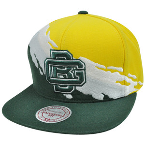 NFL Mitchell Ness NG83Z MT1 Paintbrush Wool Snapback Hat Cap Green Bay Packers