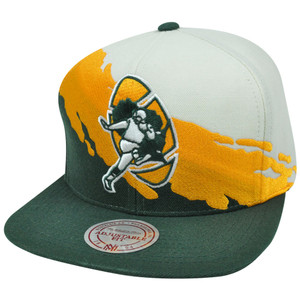 NFL Mitchell Ness NG83Z MTC Paintbrush Wool Snapback Hat Cap Green Bay Packers