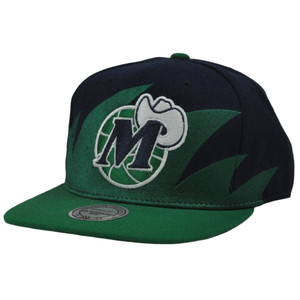 NBA Mitchell & Ness Sharktooth NZA04 Snapback Flat Bill Hat Cap Dallas Mavericks