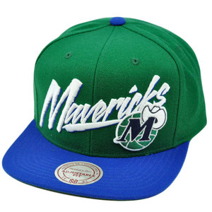 NBA Mitchell Ness Vintage Vice Script Snapback Hat Cap NE40 Dallas Mavericks