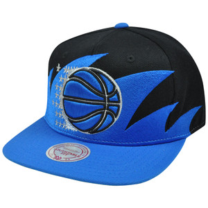 NBA Mitchell & Ness Sharktooth NZA04 Snapback Flat Bill Hat Cap Orlando Magic