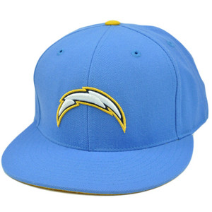 NFL Mitchell & Ness Throwback Logo Hat Cap Fitted San Diego Chargers TK42 Size 8