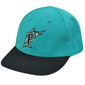 MLB FLORIDA MARLINS AQUA COTTON INFANT KIDS CAP HAT NEW