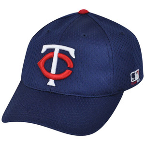 MLB Minnesota Twins MLB375 Mesh Stretch Fit Youth Navy Blue Teen Boys Hat Cap