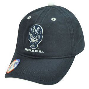 HAT CAP TODDLER BABY NEVADA WOLF PACK GAME COTTON NAVY BLUE LICENSED NCAA VELCRO