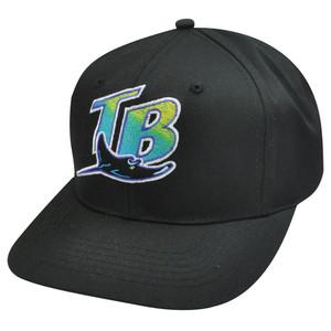 MLB TAMPA BAY DEVIL RAYS BLACK SNAP YOUTH KIDS HAT CAP