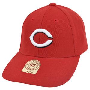 MLB '47 Brand Cincinnati Reds Baldschun Youth Kids Adjustable Velcro Hat Cap