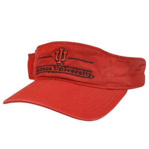 NCAA VISOR HAT CAP INDIANA HOOSIERS LOGO RED COTTON NEW