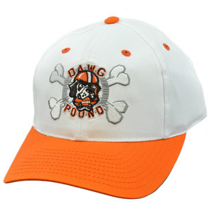 NFL Cleveland Browns Dawg Pound Vintage Deadstock Snapback White Orange Hat Cap
