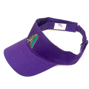VISOR HAT MLB ARIZONA DIAMONDBACKS PURPLE COTTON NEW