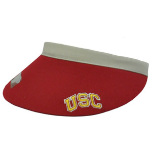 NCAA USC SOUTHERN CALIFORNIA TROJANS RED CLIP VISOR HAT