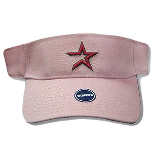 VISOR HAT MLB HOUSTON ASTROS PINK COTTON WOMEN GIRL NEW