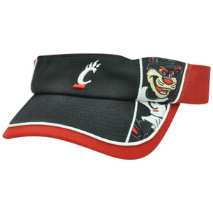 NCAA Cincinnati Bearcats Mascot Velcro College Sports Adjustable Hat Visor