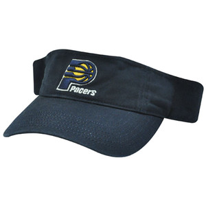 NBA Indiana Pacers Navy Blue Adjustable Velcro Sun Visor Cotton Hat Cap Adult
