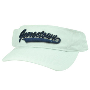 NCAA VISOR HAT CAP GEORGETOWN HOYAS WHITE BLUE COTTON