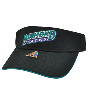 VISOR HAT MLB ARIZONA DIAMONDBACKS BLACK COTTON NEW