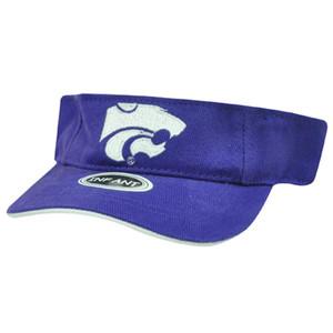 NCAA INFANT VISOR HAT CAP KANSAS STATE WILDCATS PURPLE