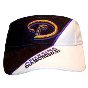 VISOR HAT MLB ARIZONA DIAMONDBACKS BLACK WHITE NEW