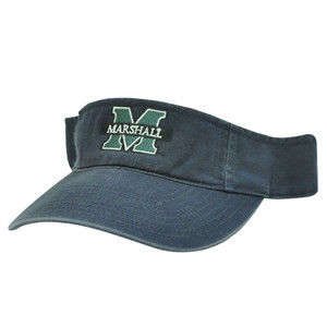 NCAA VISOR HAT CAP MARSHALL THUNDERING HERD BLUE NEW