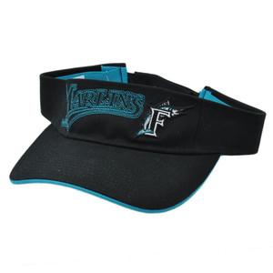 MLB Florida Marlins Retro Sun Visor Fan Favorite Velcro Black Teal Baseball Hat