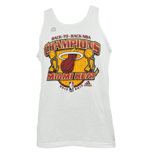 Miami Heat Adidas Back To Back NBA Finals Champions Tank Top Adult Men