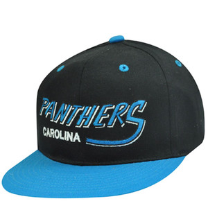 NFL CAROLINA PANTHERS FLAT OLD SCHOOL SNAPBACK CAP HAT