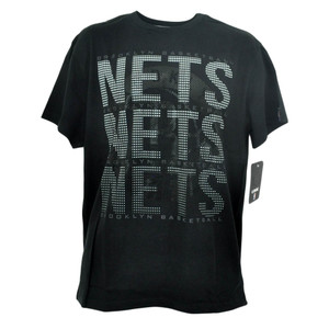 NBA Unk Brooklyn Nets Triple Marquee Dot Basketball Tshirt Mens Tee Black
