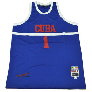 Cuba Cuban Flag Caribbean Red Blue Basketball Mens Jersey Tank Adult Size