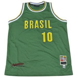 Brasil Brazil Flag Green Basketball Mens Jersey Camisola Tank Adult Size