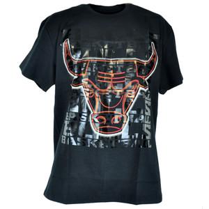 NBA UNK Chicago Bulls Shine Basketball Shirt Black Adult Authentic Tshirt Tee