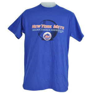 MLB New York Mets Licensed Baseball Sport Tshirt Tee Blue Orange Cotton Adult