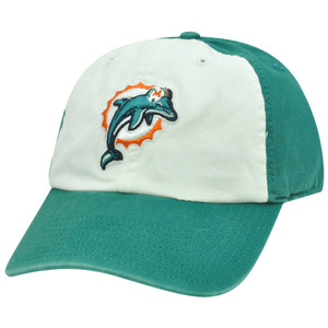 NFL '47 Brand Miami Dolphins Freshman Garment Wash Slouched Snap Buckle Hat Cap