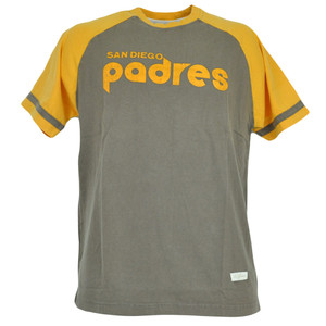 MLB Red Jacket San Diego Padres Distressed Tshirt Faded Baseball Shirt Tee