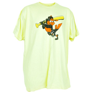 MLB Baltimore Orioles Bird Distressed Authentic Mens Adult Shirt Tshirt Tee