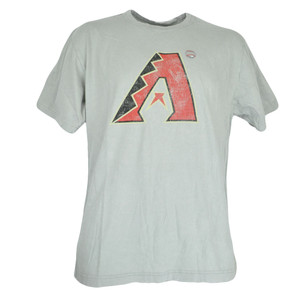 MLB Faded Distressed Arizona Diamondbacks Dbacks Gray Tee Authentic Tshirt